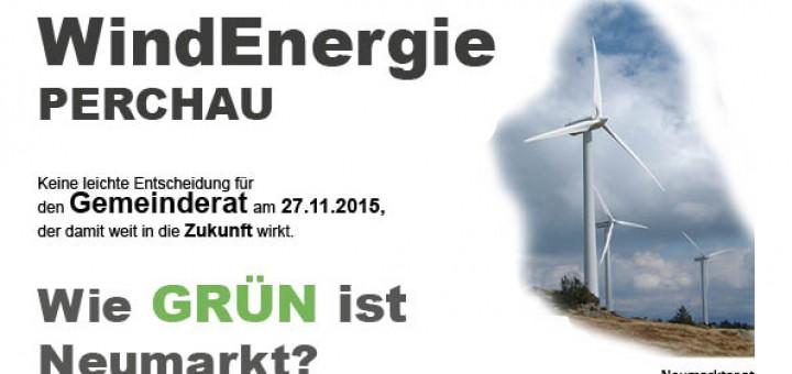 Windenergie Perchau Gemeinde Neumarkt, wie Grün ist Neumarkt?